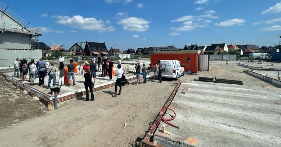 26/07/2021 Eerste steen Hofwoningen Vathorst